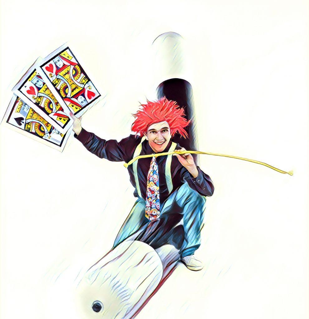 Cartel con varita de magia