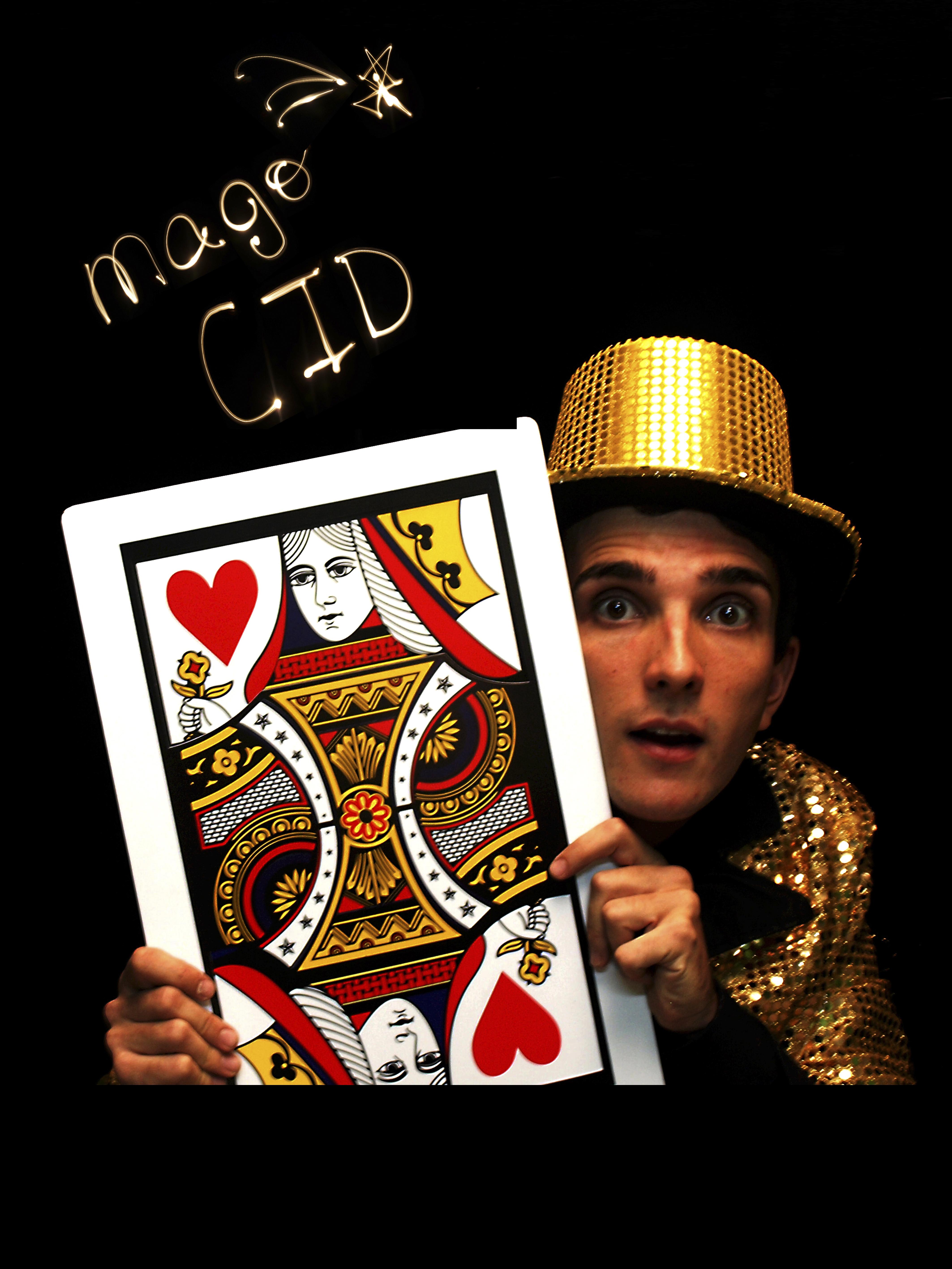 Cartel del Mago Cid con Cartas